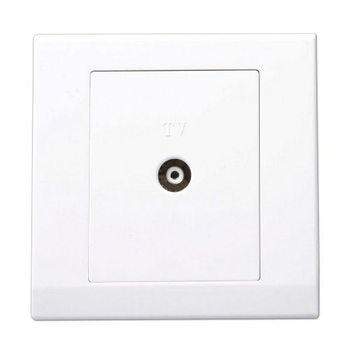 Simplicity White Screwless Single Coaxial TV Socket 07560